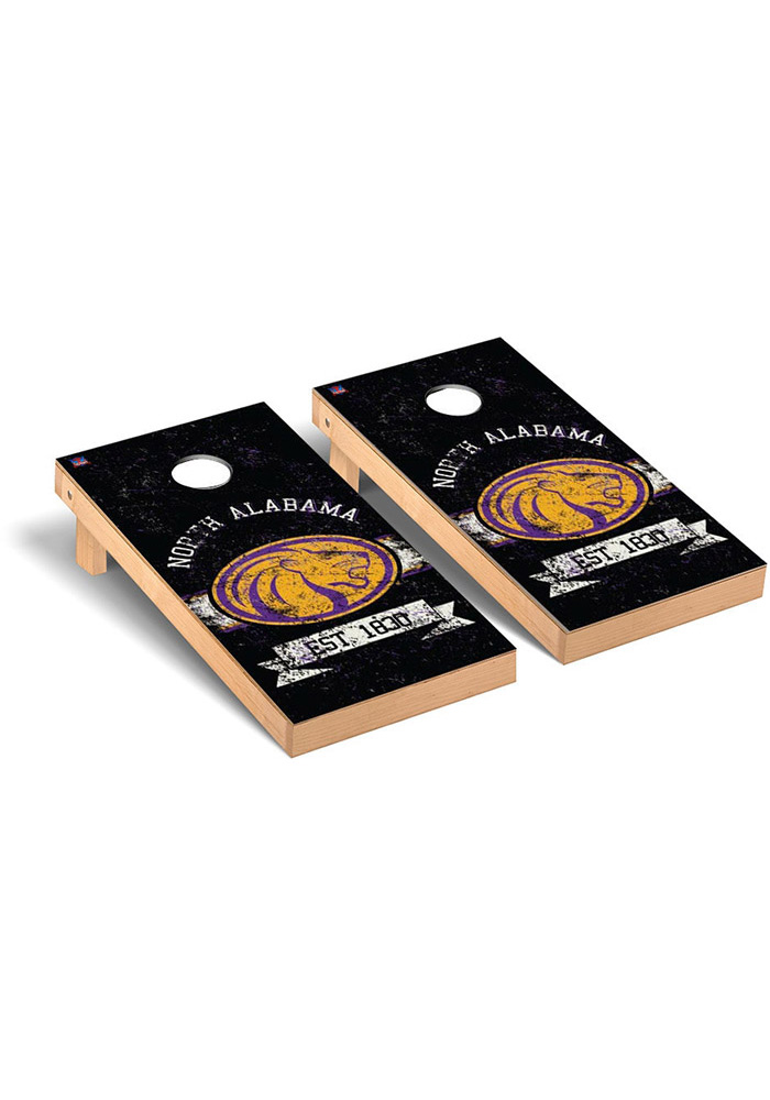 North Alabama Lions Cornhole Game Set Tailgate Game - Image 1