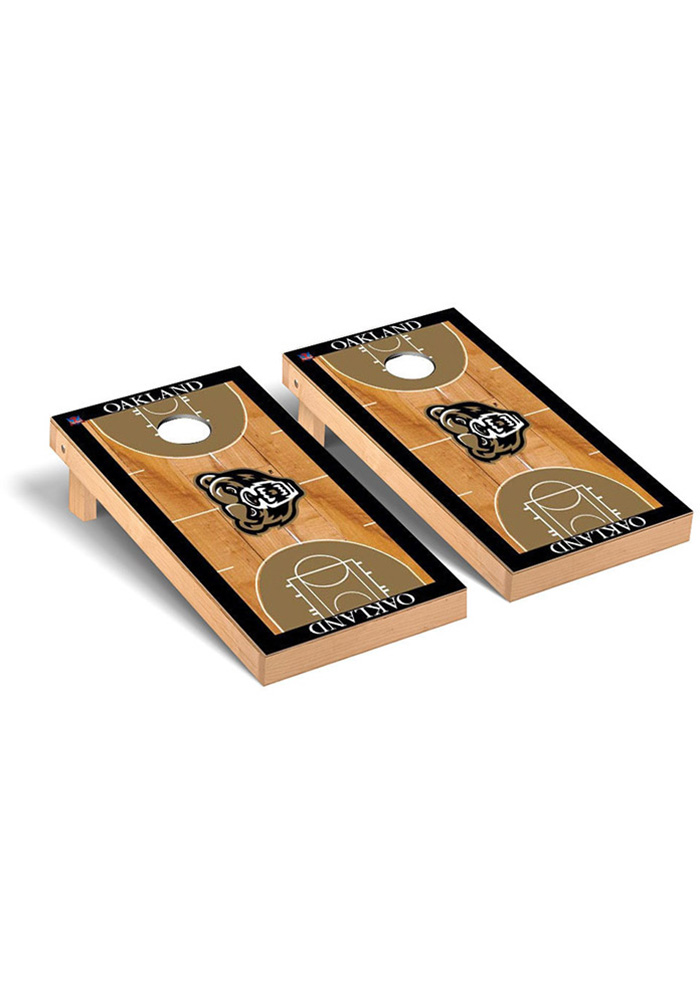 Oakland University Cornhole Game Set Tailgate Game - Image 1