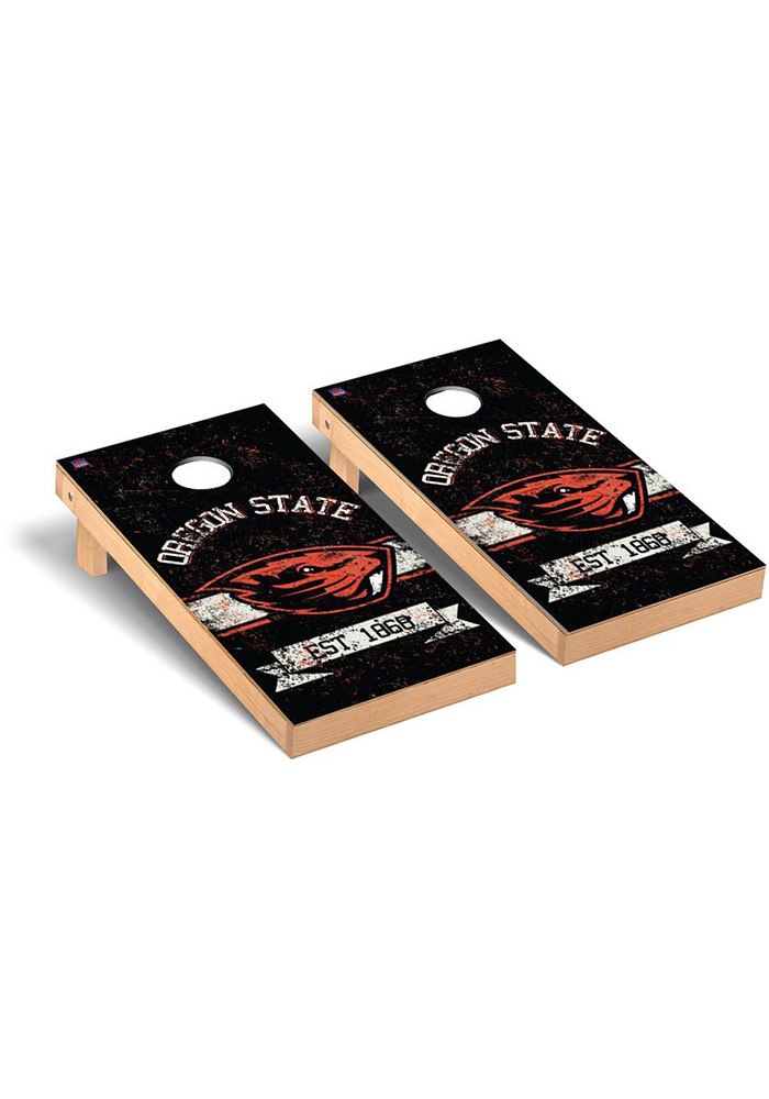 Oregon State Beavers Cornhole Game Set Tailgate Game - Image 1