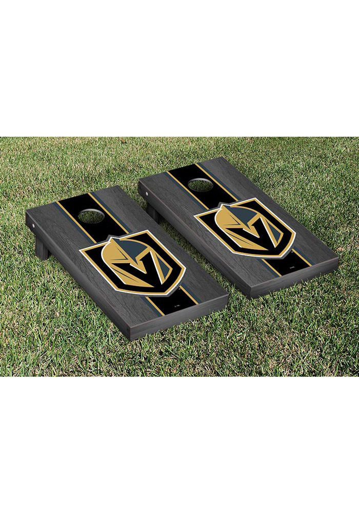 Vegas Golden Knights Onyx Stripe Version Cornhole Tailgate Game - Image 1