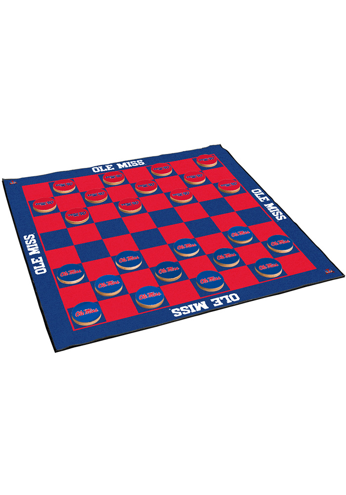 Ole Miss Rebels Giant Checkers Tailgate Game - Image 1