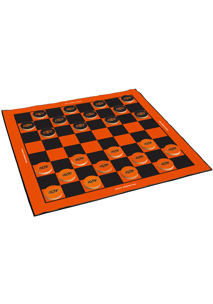 Oklahoma State Cowboys Giant Checkers Tailgate Game - Image 1