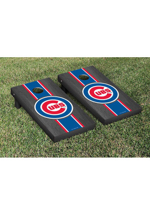 Chicago Cubs Onyx Stained Stripe Version Cornhole Tailgate Game