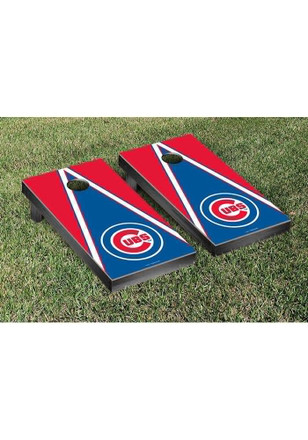 Chicago Cubs Triangle Version Cornhole Tailgate Game