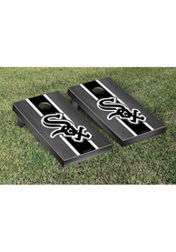 Chicago White Sox Onyx Stained Stripe Version Cornhole Tailgate Game