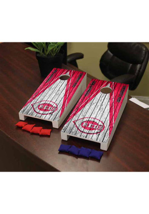 Cincinnati Reds Triangle Cornhole Game Desk Accessory