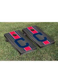 Cleveland Indians Onyx Stained Stripe Version Cornhole Tailgate Game