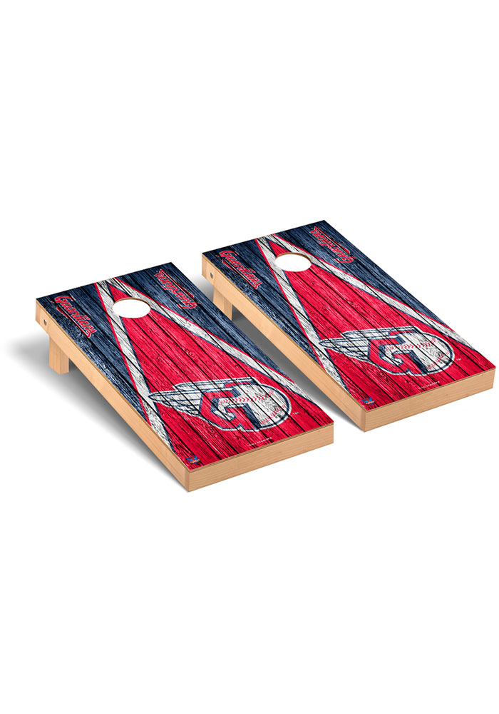 Cleveland Indians Triangle Weathered Version Cornhole Tailgate Game - Image 1