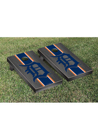 Detroit Tigers Onyx Stained Stripe Version Cornhole Tailgate Game