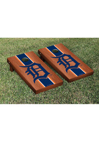 Detroit Tigers Rosewood Stained Stripe Version Cornhole Tailgate Game