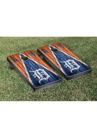 Detroit Tigers Triangle Weathered Version Cornhole Tailgate Game