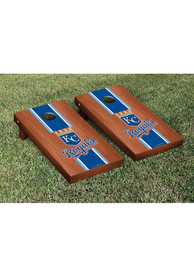 Kansas City Royals Rosewood Stained Stripe Version Cornhole Tailgate Game
