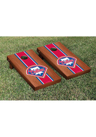 Philadelphia Phillies Rosewood Stained Stripe Version Cornhole Tailgate Game