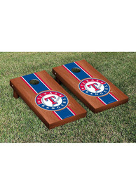Texas Rangers Rosewood Stained Stripe Version Cornhole Tailgate Game