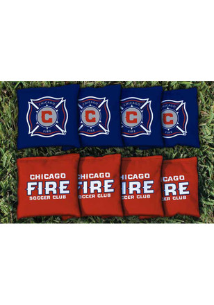 Chicago Fire Corn Filled Cornhole Bags Tailgate Game