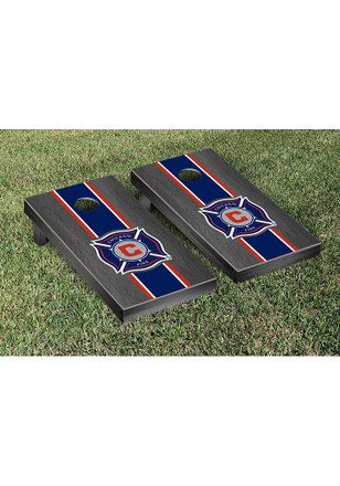 Chicago Fire Onyx Stained Stripe Version Cornhole Tailgate Game