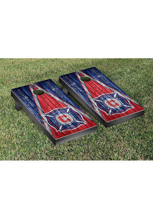 Chicago Fire Triangle Weathered Version Cornhole Tailgate Game