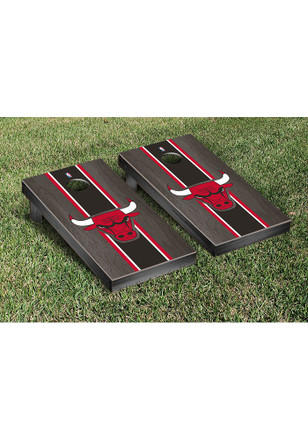 Chicago Bulls Onyx Stained Stripe Version Cornhole Tailgate Game