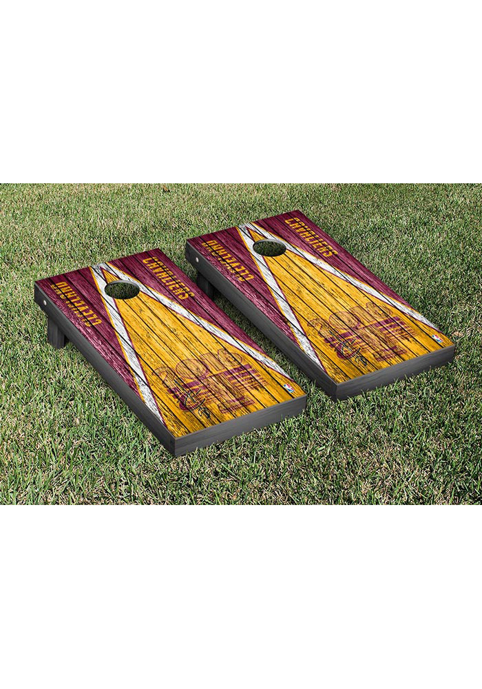 Cleveland Cavaliers 2016 Champions Weathered Triangle Version Cornhole Tailgate Game - Image 1