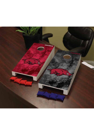 Arkansas Razorbacks Galaxy Version Cornhole Game Desk Accessory