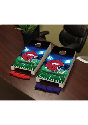 Arkansas Razorbacks Stadium Version Cornhole Game Desk Accessory