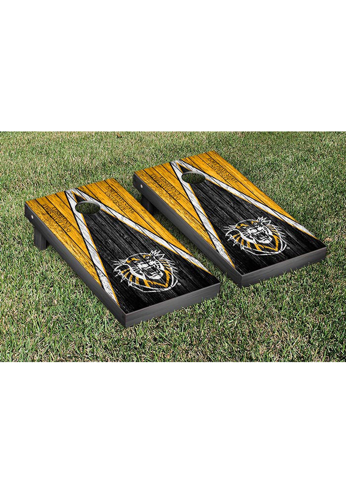 Fort Hays State Tigers Weathered Version Cornhole Tailgate Game - Image 1
