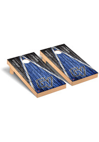 Grand Valley State Lakers Triangle Weathered Version Cornhole Tailgate Game