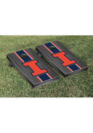 Illinois Fighting Illini Onyx Stained Stripe Version Cornhole Tailgate Game