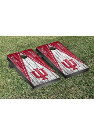 Indiana Hoosiers Triangle Weathered Version Cornhole Tailgate Game