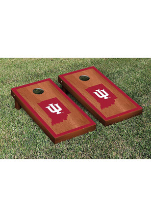 Indiana Hoosiers Rosewood Stained Border Version Cornhole Tailgate Game