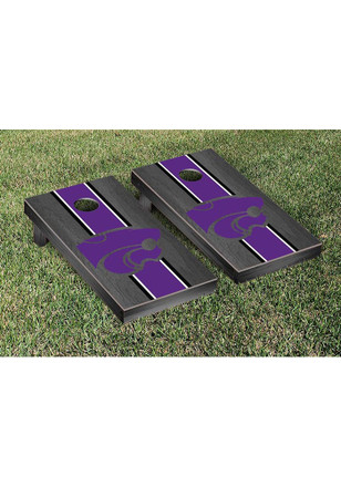 K-State Wildcats Onyx Stained Stripe Version Cornhole Tailgate Game