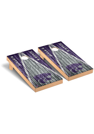 K-State Wildcats Triangle Weathered Version Cornhole Tailgate Game