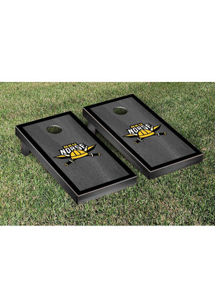 Northern Kentucky Norse Onyx Stained Border Version Cornhole Tailgate Game