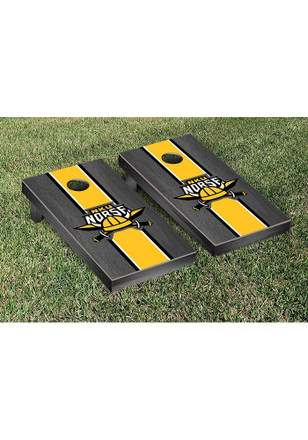 Northern Kentucky Norse Onyx Stained Stripe Version Cornhole Tailgate Game