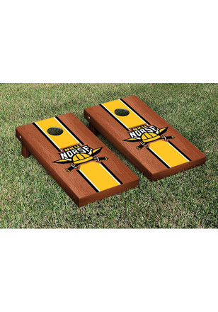 Northern Kentucky Norse Rosewood Stained Stripe Version Cornhole Tailgate Game