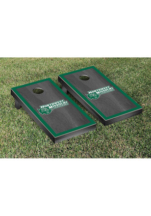 Northwest Missouri State Bearcats Onyx Stained Border Version Cornhole Tailgate Game