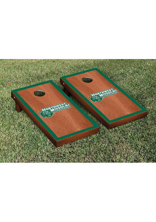 Northwest Missouri State Bearcats Rosewood Stained Border Version Cornhole Tailgate Game