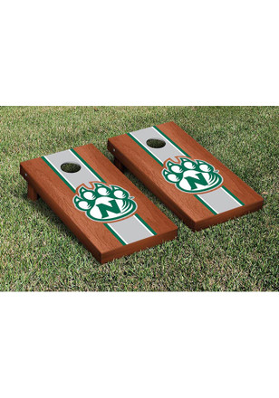 Northwest Missouri State Bearcats Rosewood Stained Stripe Version Cornhole Tailgate Game