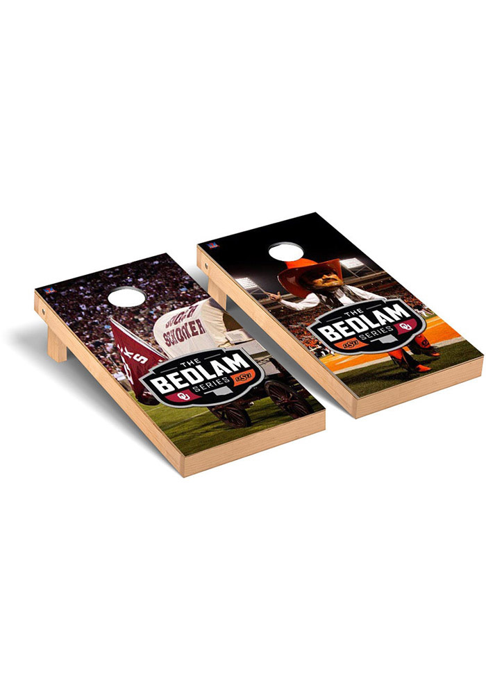 Oklahoma State Cowboys Bedlam Series Rivalry Version Cornhole Tailgate Game - Image 1