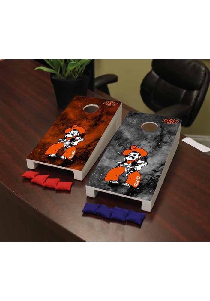 Oklahoma State Cowboys Galaxy Version Cornhole Game Desk Accessory - Image 1