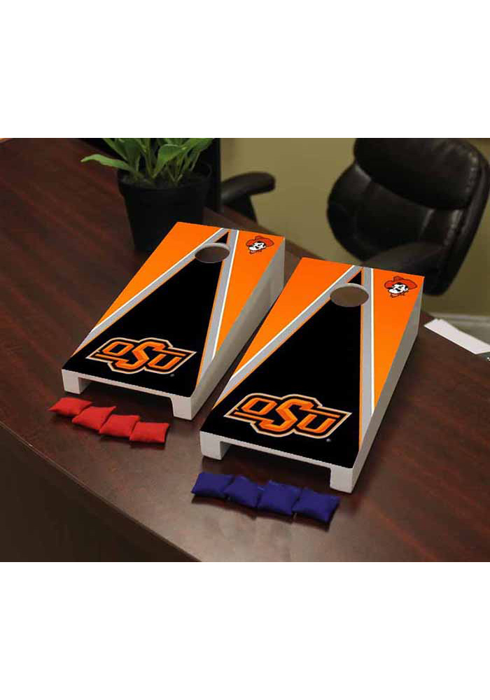Oklahoma State Cowboys Triangle Version Cornhole Game Desk Accessory - Image 1