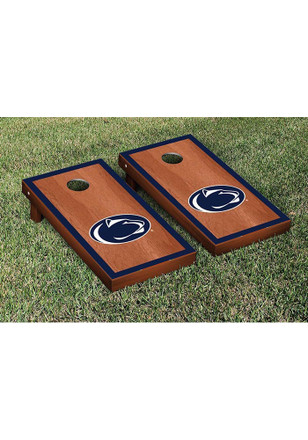Penn State Nittany Lions Rosewood Stained Border Version Cornhole Tailgate Game