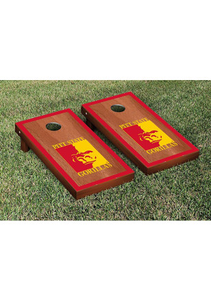 Pitt State Gorillas Rosewood Stained Border Version Cornhole Tailgate Game