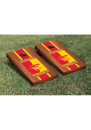 Pitt State Gorillas Rosewood Stained Stripe Version Cornhole Tailgate Game