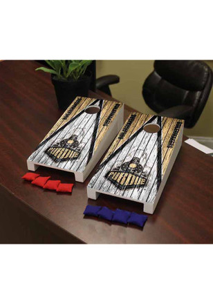 Purdue Boilermakers Triangle Weathered Version Cornhole Game Desk Accessory