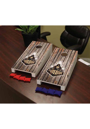 Purdue Boilermakers Weathered Version Cornhole Game Desk Accessory