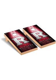 Rutgers Scarlet Knights Museum Version Cornhole Tailgate Game