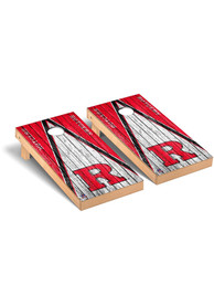 Rutgers Scarlet Knights Triangle Weathered Version Cornhole Tailgate Game
