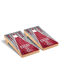 Temple Owls Weathered Triangle Version Cornhole Tailgate Game