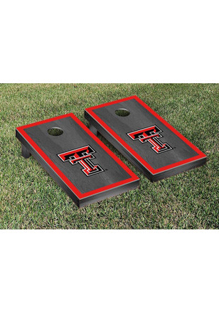 Texas Tech Red Raiders Onyx Stained Border Version Cornhole Tailgate Game